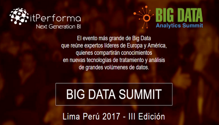 itPerforma en el Big Data Analytics Summit, Perú